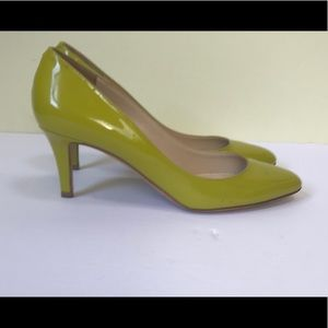 Jimmy Choo Leather Pumps heels shoes Chartreuse